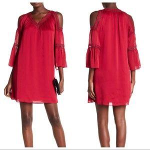 Ruby Red Cold Shoulder Dress
